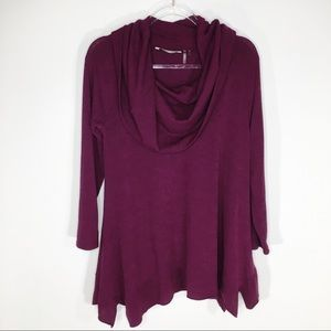 Soft Surroundings Bcall Tunic Top Burgundy